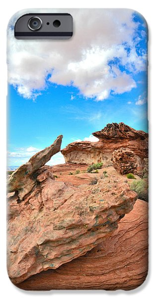 Nation iPhone Cases - Bizarre Rocks iPhone Case by Ray Mathis