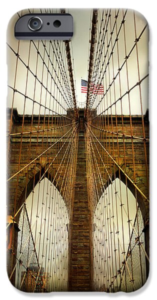 Brooklyn Bridge Twilight IPhone 6 Case by Jessica Jenney