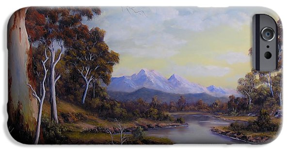 Landscapes Reliefs iPhone Cases - Calm Waters iPhone Case by John Cocoris
