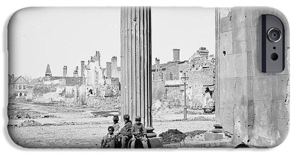Ruin iPhone Cases - Civil War: Charleston, 1865 iPhone Case by Granger