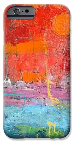 Abstract Seascape iPhone Cases - Colourful Landscape iPhone Case by Elizabeth Langreiter