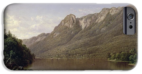 David iPhone Cases - Eagle Cliff at Franconia Notch in New Hampshire iPhone Case by David Johnson
