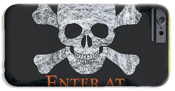 Bat iPhone 6 Case - Enter At Your Own Risk  by Debbie DeWitt