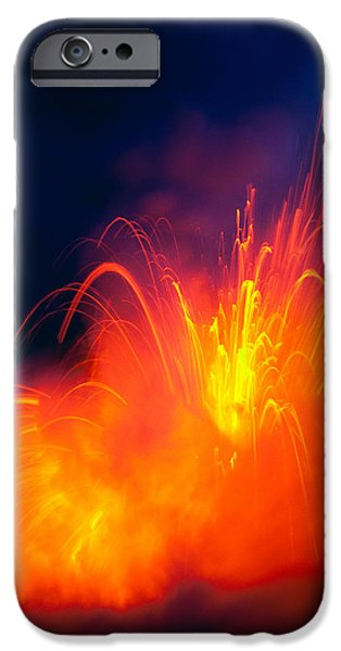 Salt Air iPhone Cases - Exploding Lava iPhone Case by Greg Vaughn - Printscapes