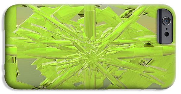 Incendia iPhone Cases - Green On Green iPhone Case by Deborah Benoit