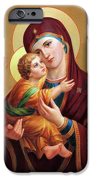 iPhone 6 Case - Holy Mother Of God - Blessed Virgin Mary by Svitozar Nenyuk