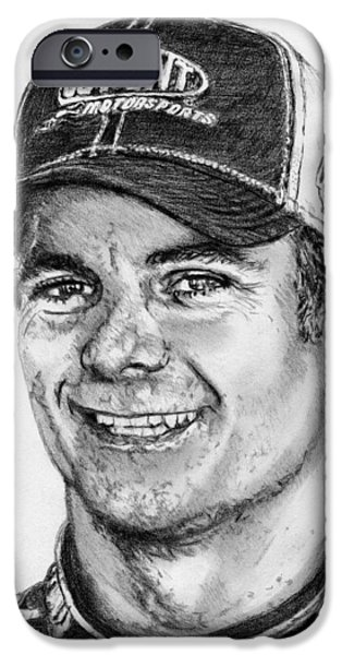 Owner Drawings iPhone Cases - Jeff Gordon in 2010 iPhone Case by J McCombie