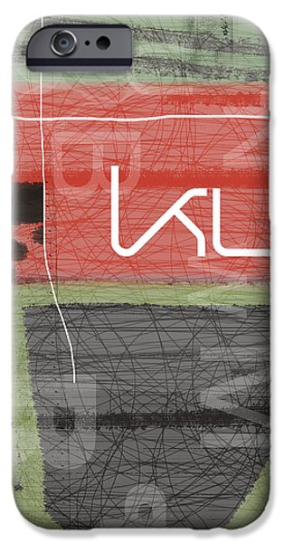 Red Abstract iPhone Cases - Kut iPhone Case by Naxart Studio