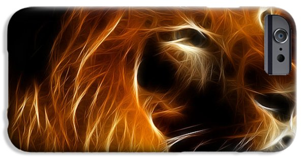 Wing Tong Digital iPhone Cases - Lord Of The Jungle iPhone Case by Wingsdomain Art and Photography