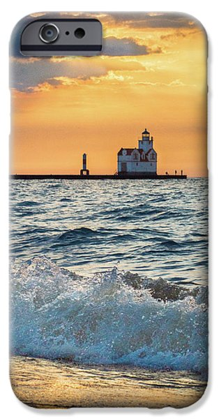 IPhone 6 Case featuring the photograph Morning Dance On The Beach by Bill Pevlor