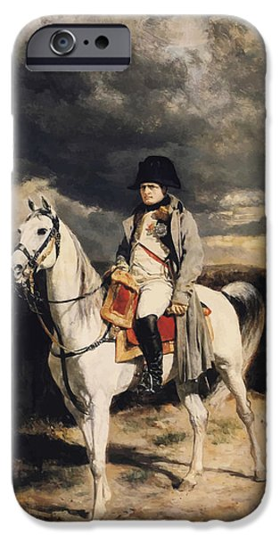 Leaders iPhone Cases - Napoleon Bonaparte On Horseback iPhone Case by War Is Hell Store