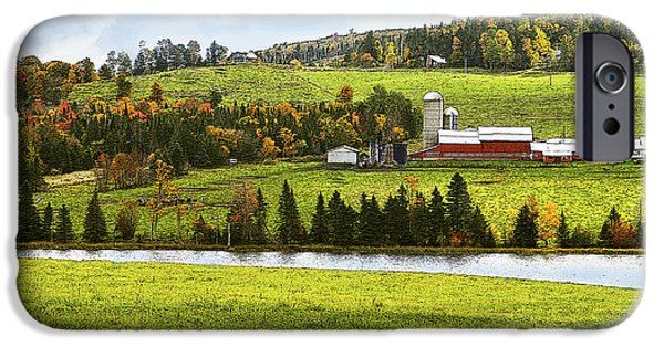 Recently Sold -  - Rainy Day iPhone Cases - New England Farm iPhone Case by Betty LaRue