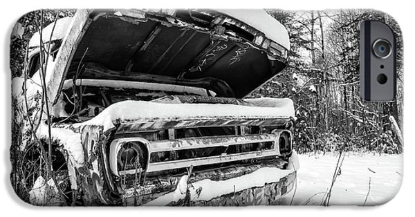 Old Abandoned Pickup Truck In The Snow IPhone 6 Case