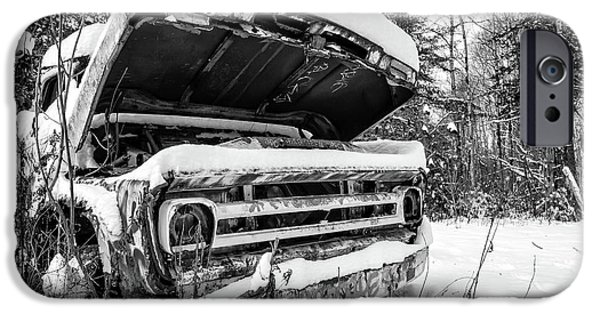 iPhone 6 Case - Old Abandoned Pickup Truck In The Snow by Edward Fielding