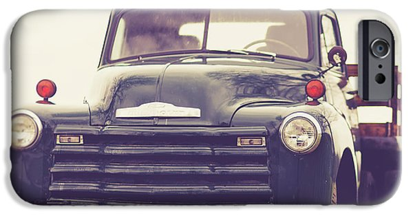 iPhone 6 Case - Old Chevy Farm Truck In Vermont Square by Edward Fielding