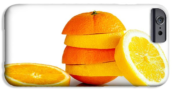 Slices iPhone Cases - Oranje Lemon iPhone Case by Carlos Caetano