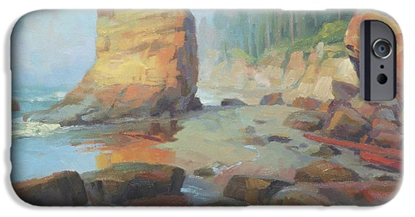 Pacific Ocean iPhone 6 Case - Otter Rock Beach by Steve Henderson