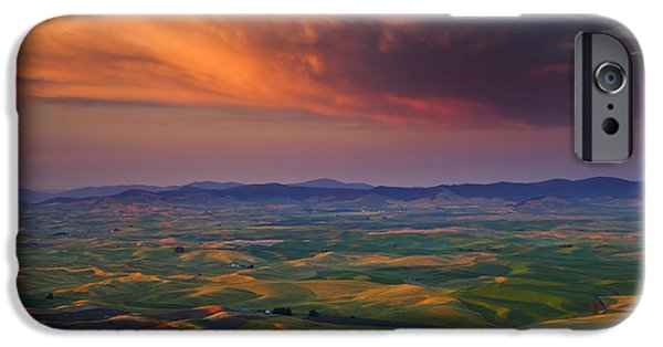 Thunderhead iPhone Cases - Palouse Storm iPhone Case by Mike  Dawson