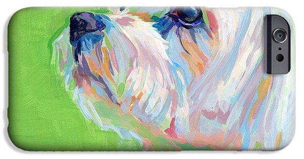 Pastel Paintings iPhone Cases - Parker iPhone Case by Kimberly Santini