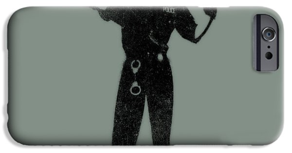 Stencil iPhone Cases - Police Dog iPhone Case by Pixel  Chimp