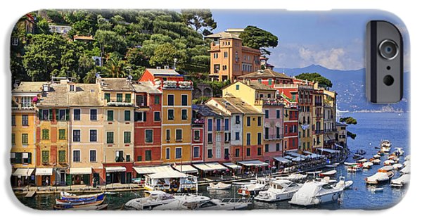 Town iPhone Cases - Portofino iPhone Case by Joana Kruse