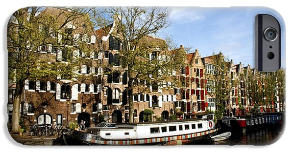 Boat House iPhone Cases - Prinsengracht iPhone Case by Fabrizio Troiani