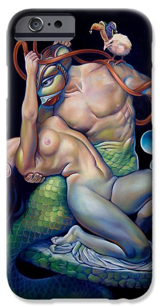 Mermaids iPhone Cases - PYGMALION and GALATEA iPhone Case by Patrick Anthony Pierson