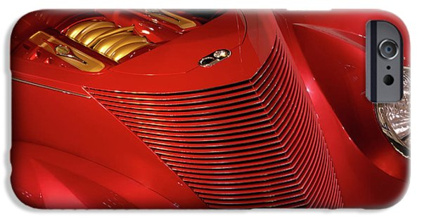 Renewing iPhone Cases - Red Classic Car Details iPhone Case by Oleksiy Maksymenko