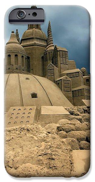 Sand Castles iPhone Cases - Sand Castle iPhone Case by Sophie Vigneault