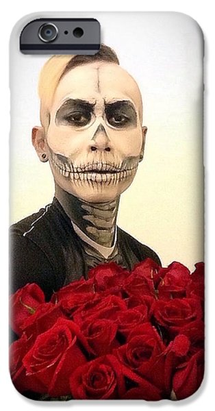 Skull Tux And Roses IPhone 6 Case by Kent Chua