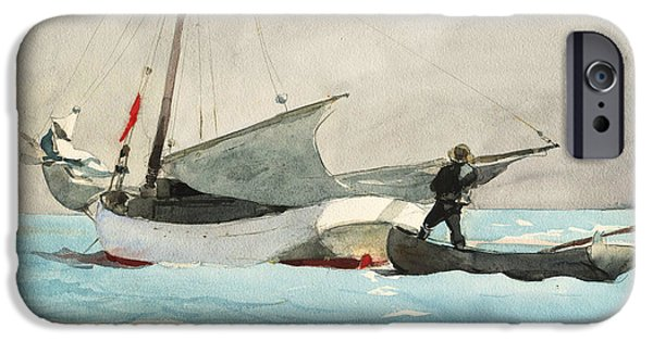 20th iPhone 6 Case - Stowing Sail by Winslow Homer