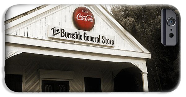 Country Store iPhone Cases - The Burnside General Store iPhone Case by Scott Pellegrin