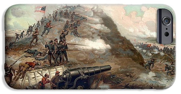 History Mixed Media iPhone Cases - The Capture Of Fort Fisher iPhone Case by War Is Hell Store