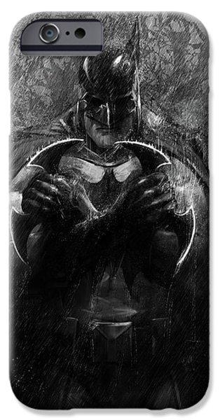 Bat iPhone 6 Case - The Detective by Steve Goad