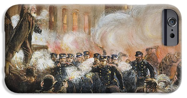 Bombing iPhone Cases - The Haymarket Riot, 1886 iPhone Case by Granger