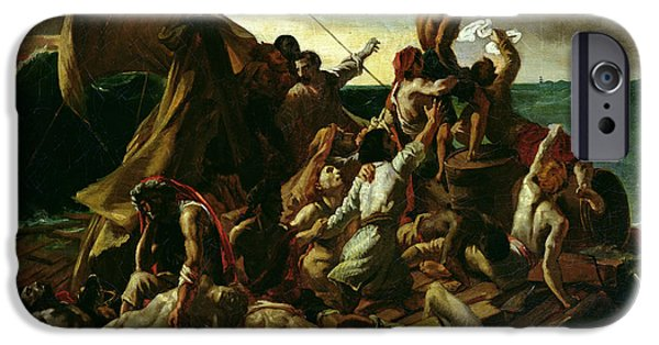 Sink iPhone Cases - The Raft of the Medusa iPhone Case by Theodore Gericault