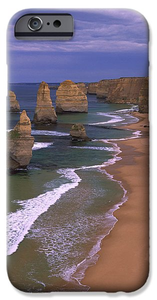 Coastal Places iPhone Cases - Twelve Apostles Limestone Cliffs, Port iPhone Case by Konrad Wothe