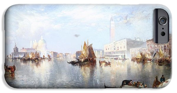 Shipping iPhone Cases - Venetian Grand Canal iPhone Case by Thomas Moran