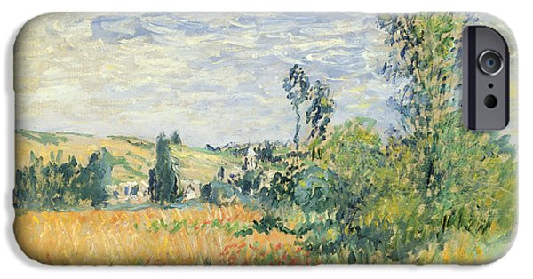Farmland iPhone Cases - Vetheuil iPhone Case by Claude Monet