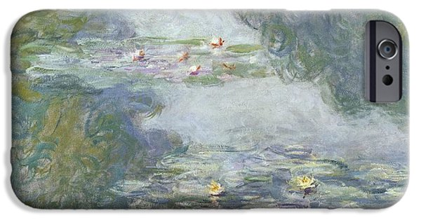 Pads iPhone Cases - Waterlilies iPhone Case by Claude Monet
