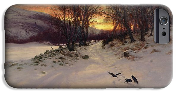 A Sunny Morning iPhone Cases - When the West with Evening Glows iPhone Case by Joseph Farquharson