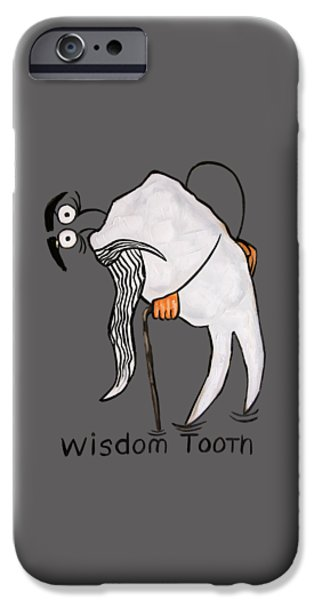 Shirt Digital iPhone Cases - Wisdom Tooth iPhone Case by Anthony Falbo