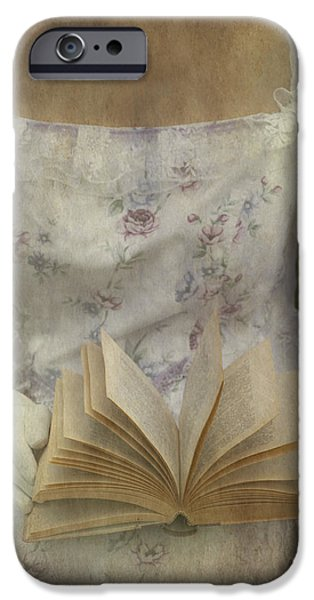 Close Up Floral iPhone Cases - Woman With A Book iPhone Case by Joana Kruse