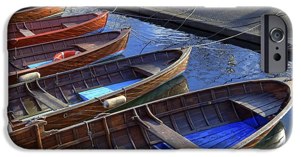 Boats iPhone Cases - Wooden Boats iPhone Case by Joana Kruse
