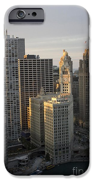 Recently Sold -  - Wrigley iPhone Cases - Wrigley Building at sunset iPhone Case by Christopher Purcell