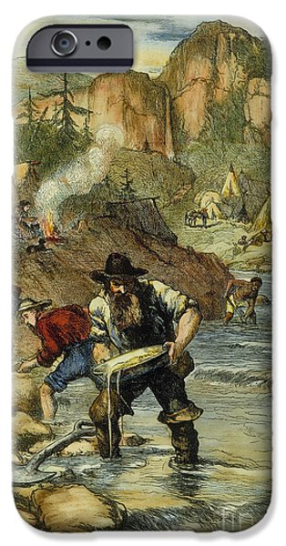 1850s iPhone Cases - California Gold Rush iPhone Case by Granger