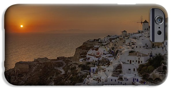 Mill iPhone Cases - Oia - Santorini iPhone Case by Joana Kruse