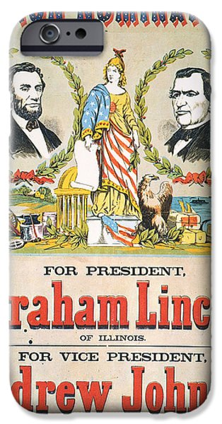 Candidate iPhone Cases - Presidential Campaign, 1864 iPhone Case by Granger
