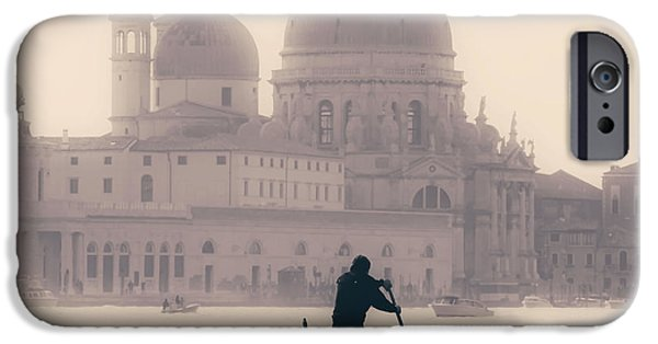 Boats iPhone Cases - Venezia iPhone Case by Joana Kruse