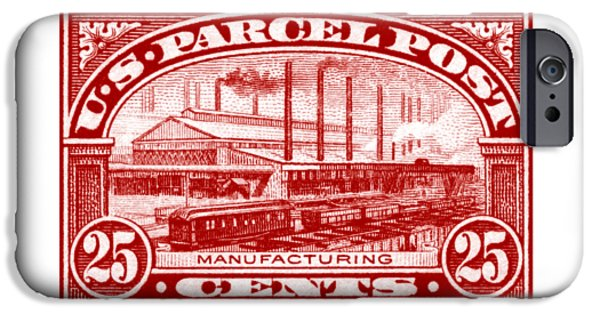 Business Paintings iPhone Cases - 1912 Manufacturing Stamp iPhone Case by Historic Image